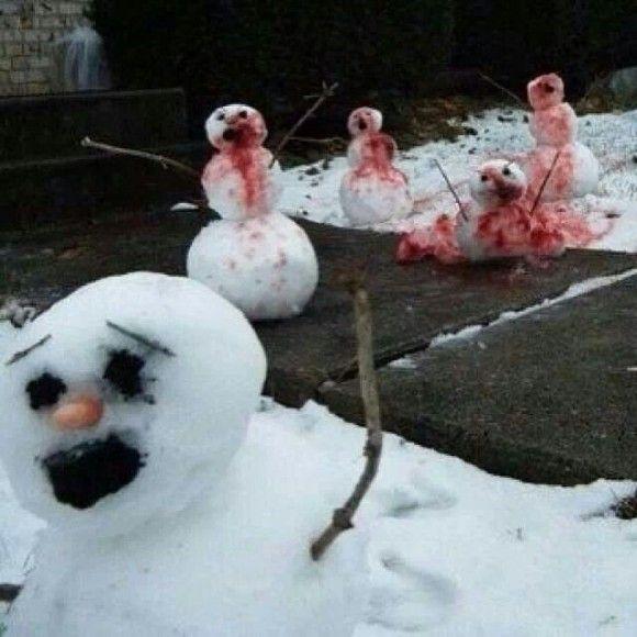 恐ろしすぎる雪だるま9