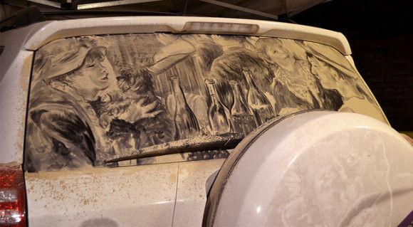 汚れた車に書いてみた7
