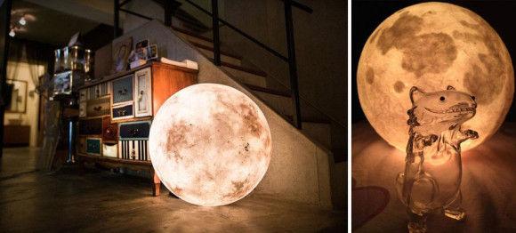 部屋に月のオブジェ2