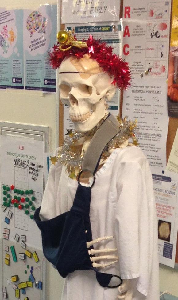 海外病院のクリスマスデコレーション8