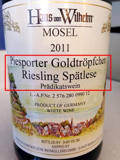 Piesporter Goldtropfchen Riesling Spatlese