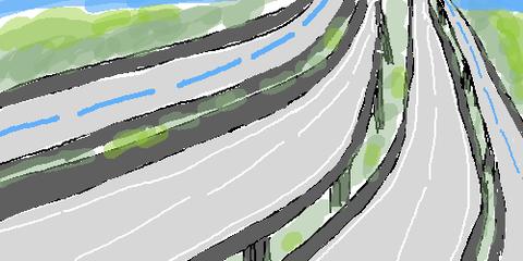 """【鬼才のソレ!】高速道路の脇に """"自転車ハイウェイ"""" ってどうよ!"""