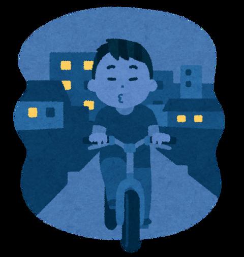自転車の無灯火運転という死にたがりさん。バカなのか?