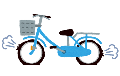 パンク修理を拒否する『自転車屋』さん(´・ω・`)