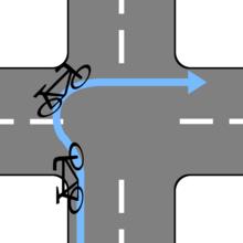 ロードバイク「二段階右折かぁ…どうすっかな~」