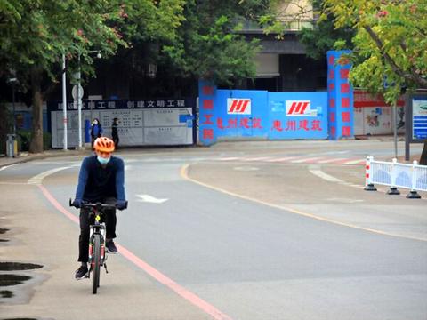 新型コロナウイルス対策自転車板