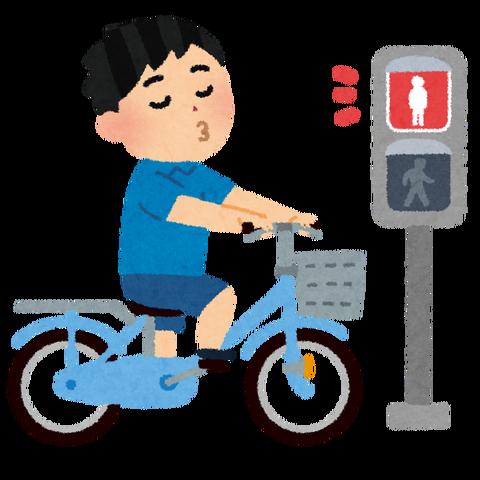 信号無視するやつは自転車乗りの風上にも置けない