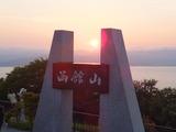 函館山と沈みゆく夕日