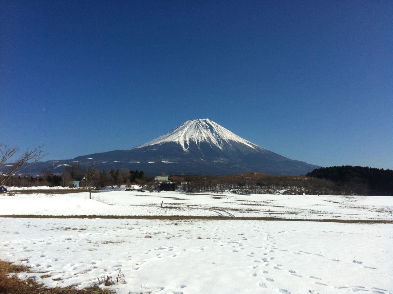 20130120冬の富士山(朝霧高原より)