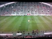 サッカー開催時のホムスタ
