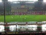 雨の中の試合