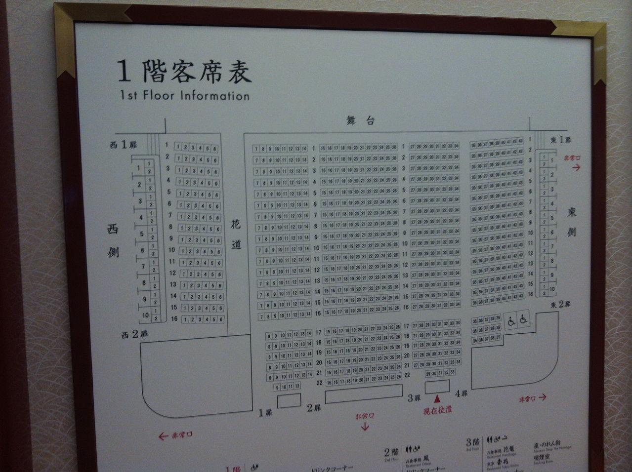 1階客席表