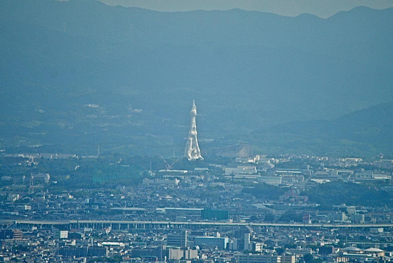 ハルカス展望台からPL大平和祈念塔