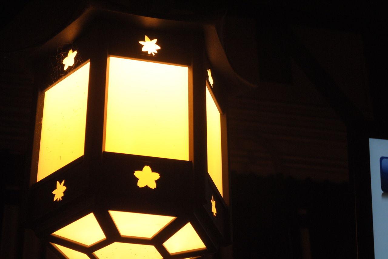 阪急嵐山駅の電灯