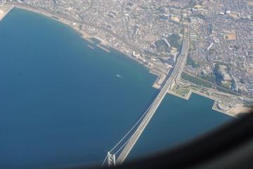 「明石海峡大橋」上空-2