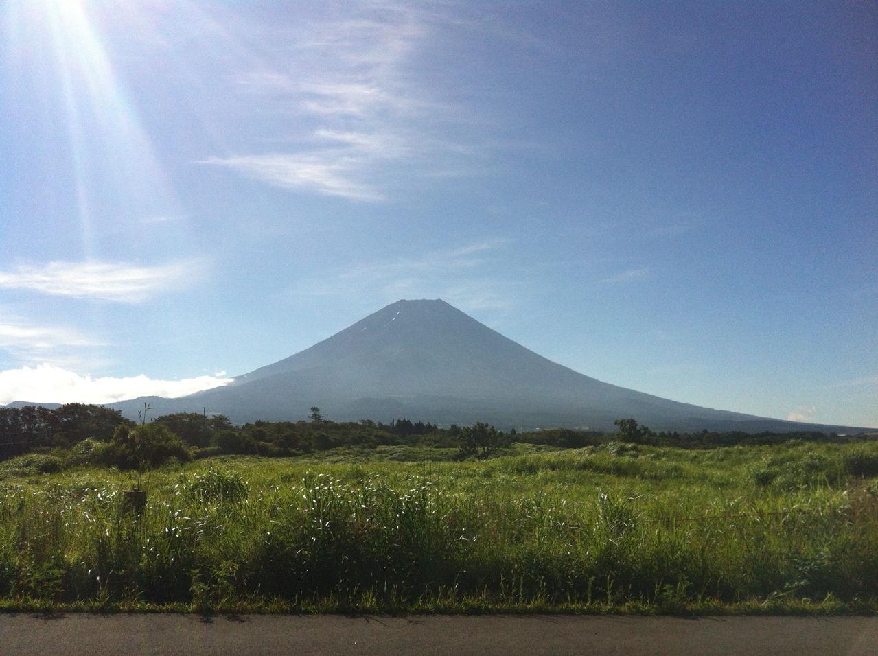 20120804朝霧高原より富士山を望む