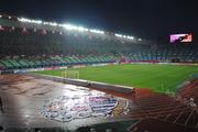 雨の長居陸上競技場