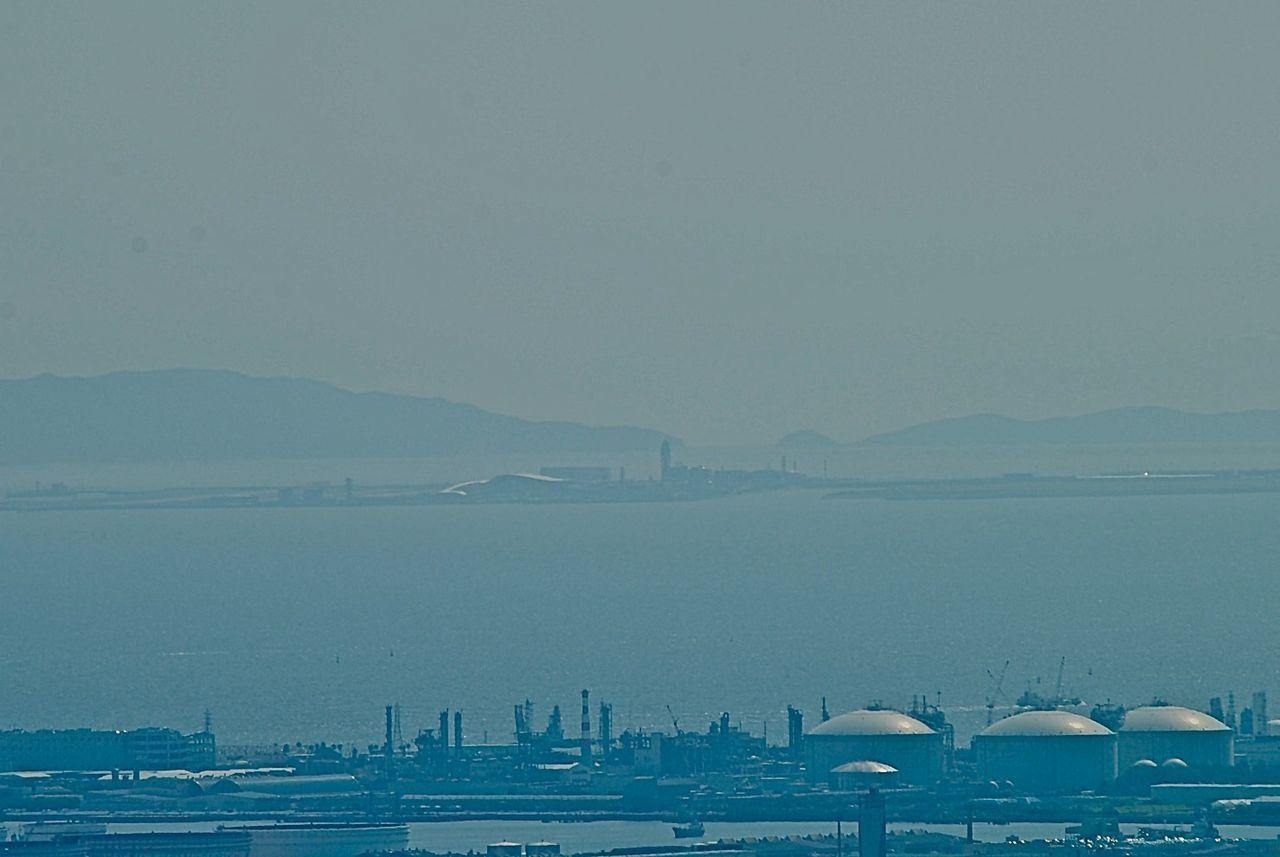 ハルカス展望台から関西国際空港