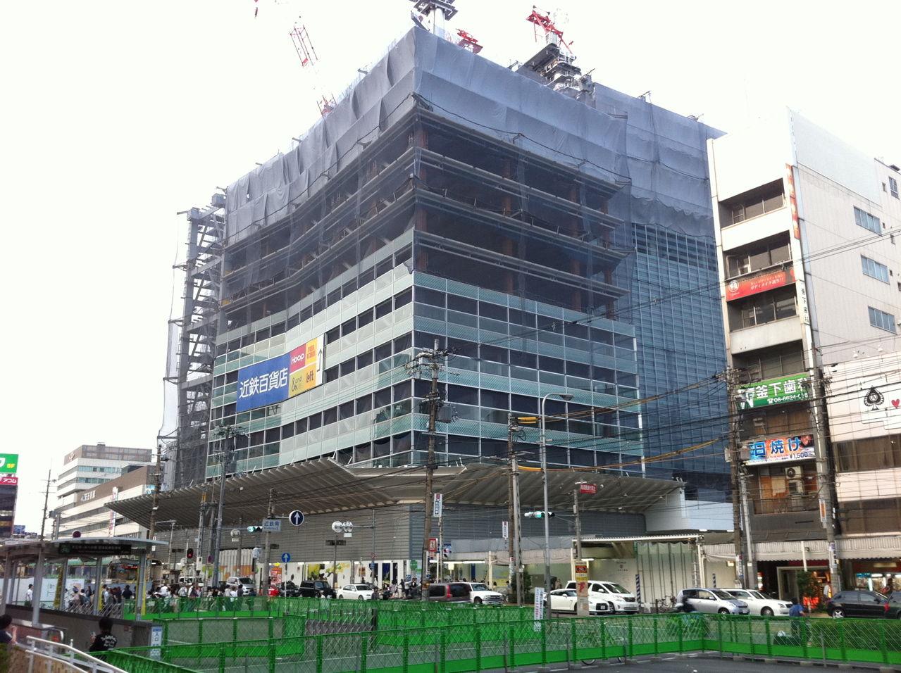 20110605阿倍野近鉄建設工事進捗状況
