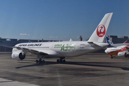 JAL日本航空エアバスA350機
