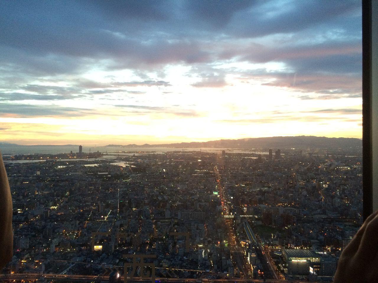 ハルカス展望台から西方向(夕景)