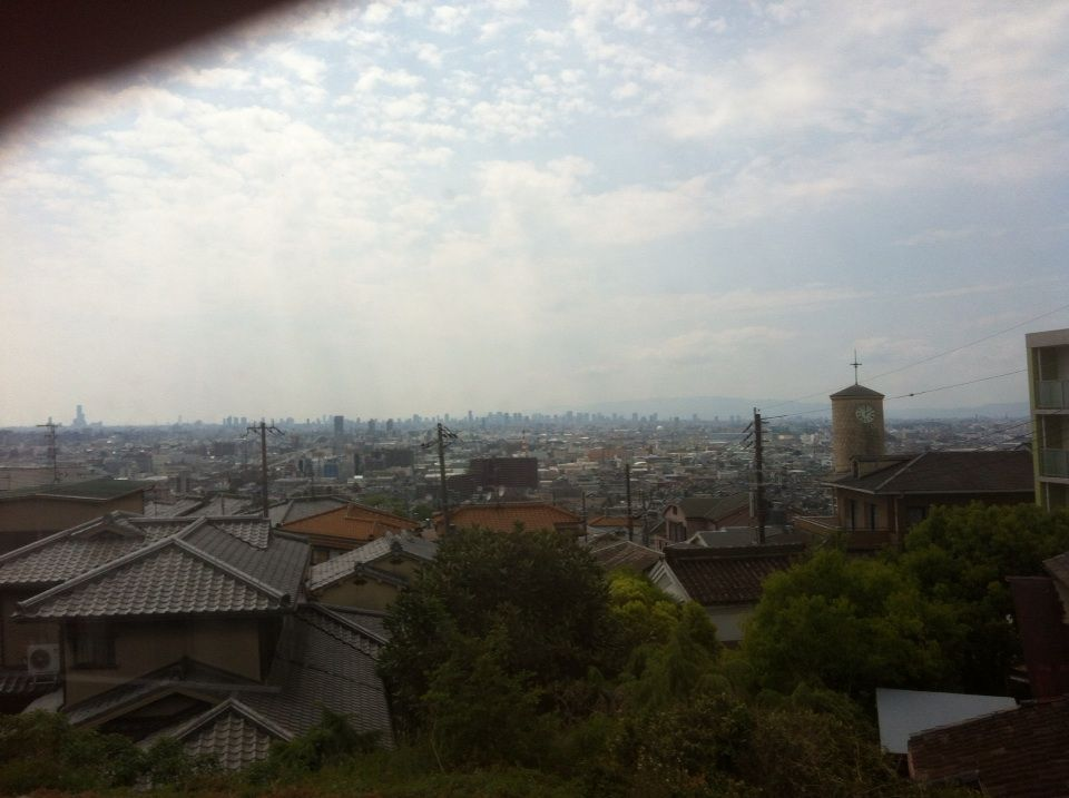 近鉄の車窓から「大阪一望」