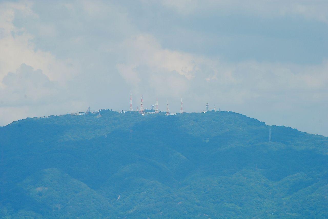 ハルカス展望台から生駒山上