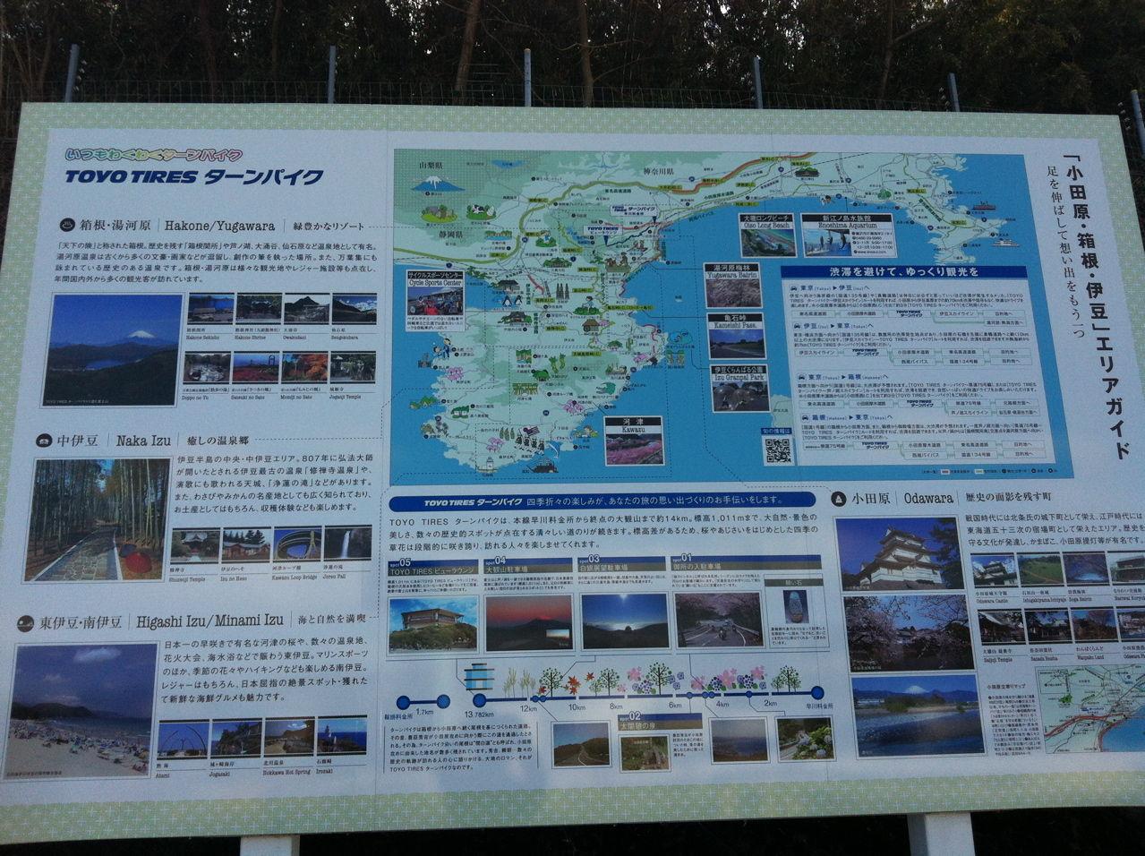 箱根ターンパイク案内図