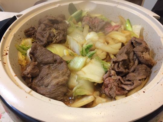 すき焼き(関西風な味付けで)
