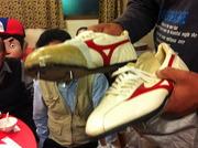 往年選手の靴