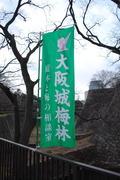 大阪城梅林の幟