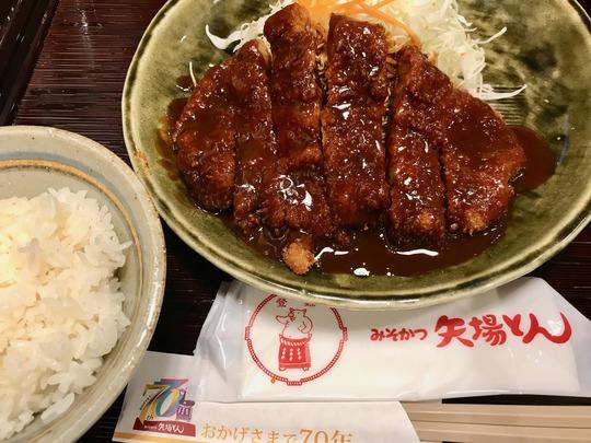 ロースかつ定食@「矢場とん」大阪松竹座店