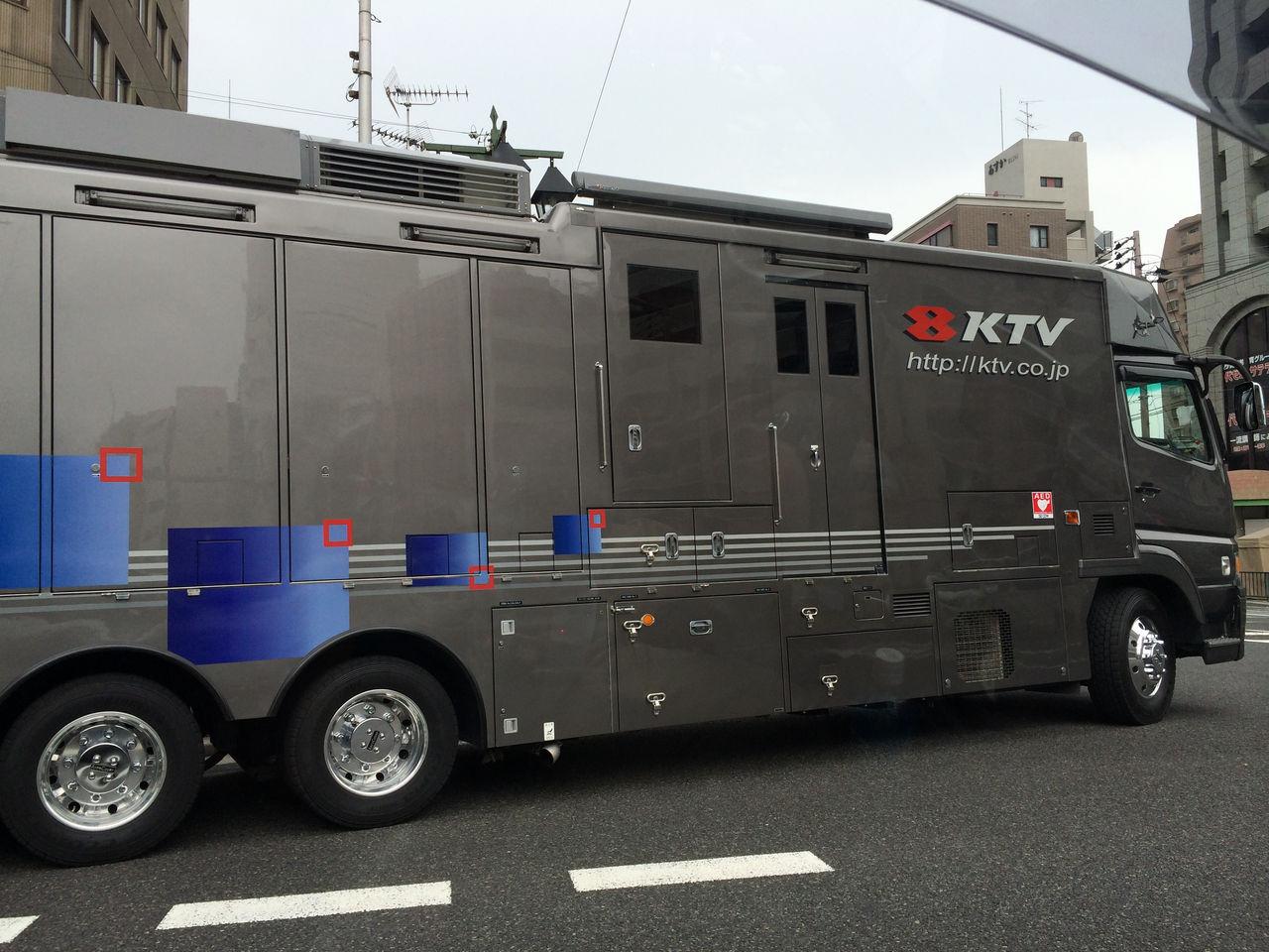 関西テレビ放送(KTV)中継車-1