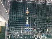 京都駅ビルから見た京都タワー