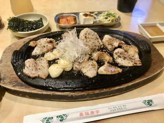サムギョプサル定食@冷麺館鶴橋店