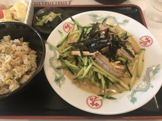 焼豚冷めん定食@中華のサカイ 本店(京都・新大宮商店街)