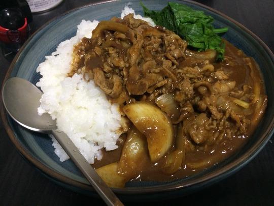 菠薐草(ほうれん草)+銀座カリー