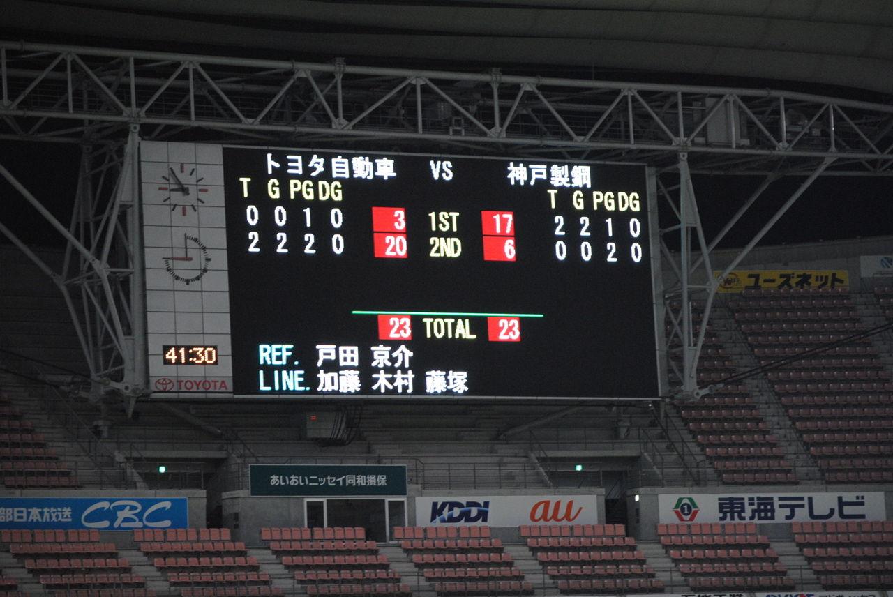 第二試合結果