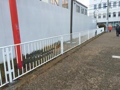 ラグビーの街東大阪ならではのフェンス