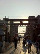 四天王寺石の鳥居-2
