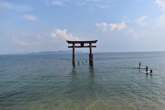 【琵琶湖に浮かぶ大鳥居】白鬚神社@滋賀県高島市