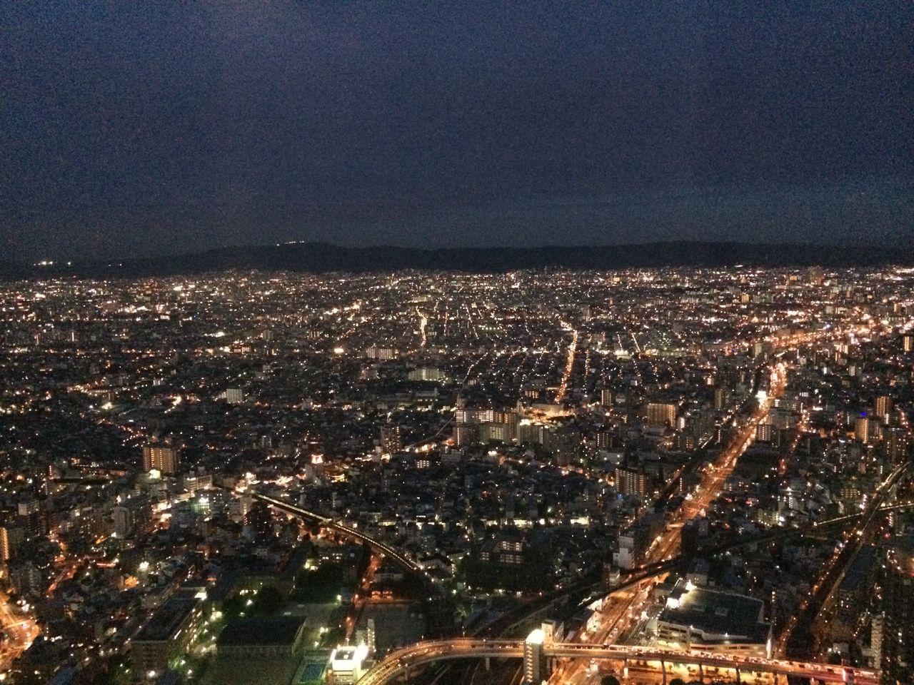 ハルカス展望台から東方向(夜景)