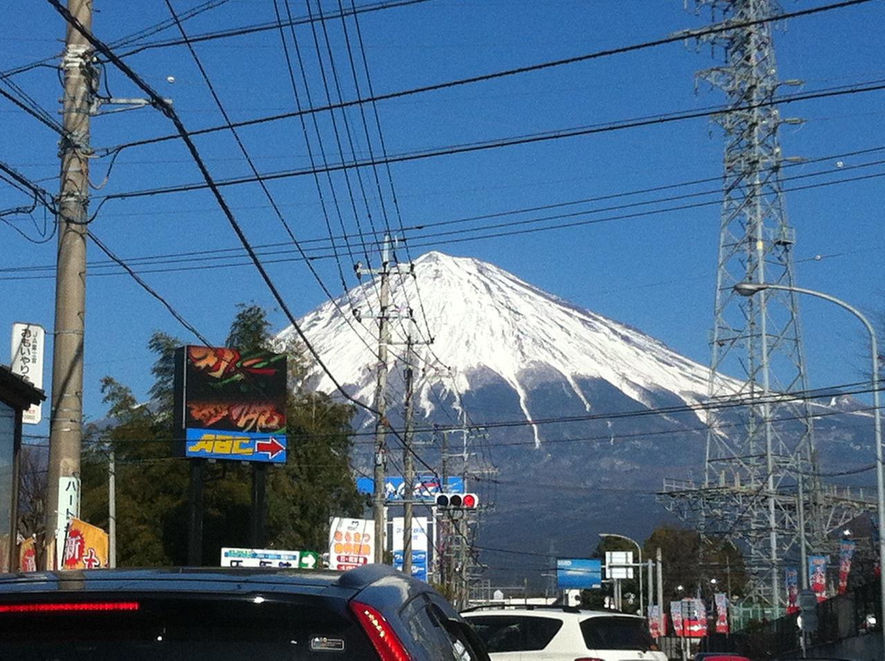 20130120冬の富士山(富士宮登山道入口より)