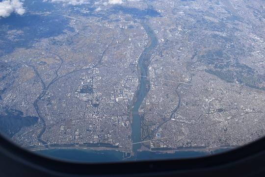 相模川河口上空
