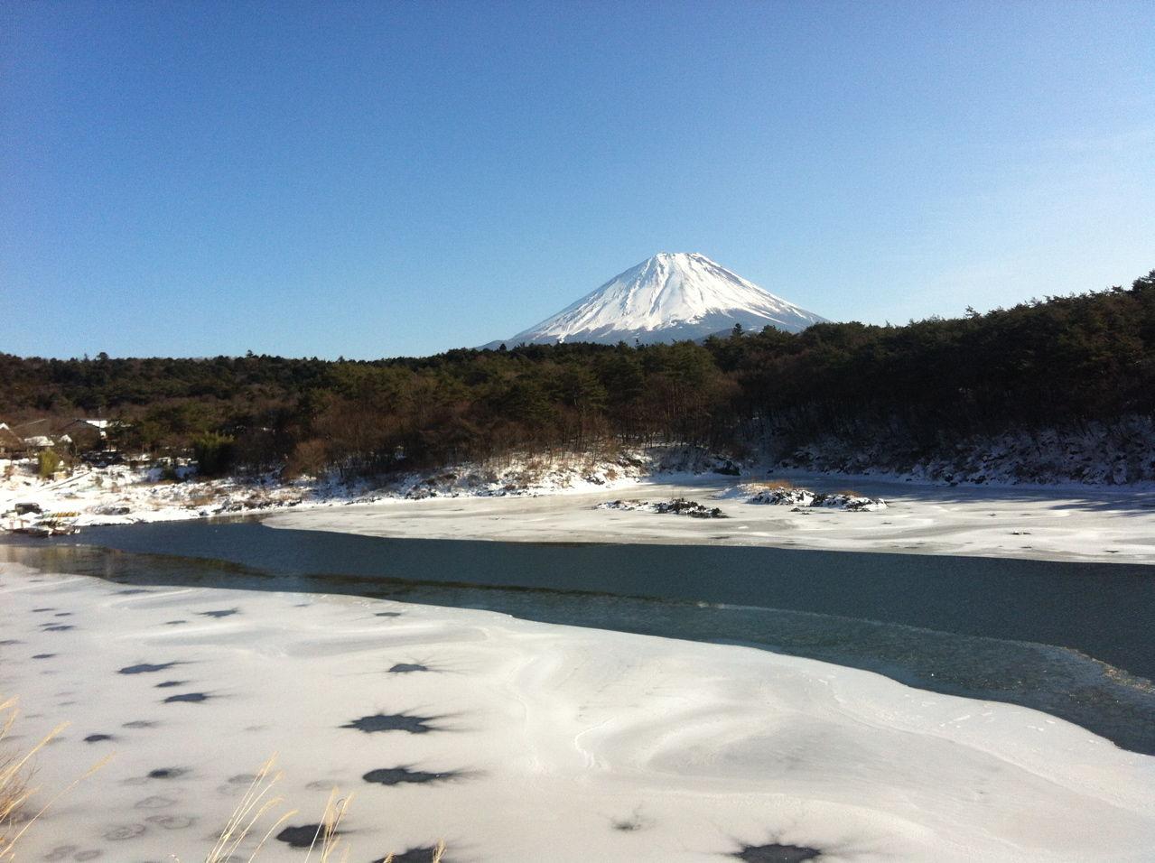 20130120冬の富士山(精進湖より)
