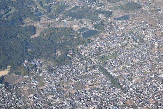 斑鳩町、法隆寺上空