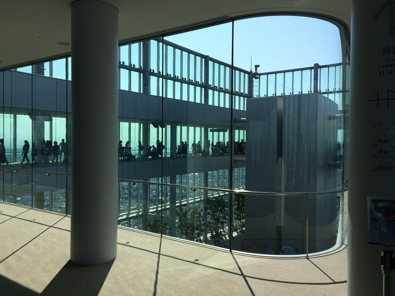 ハルカス60階回廊