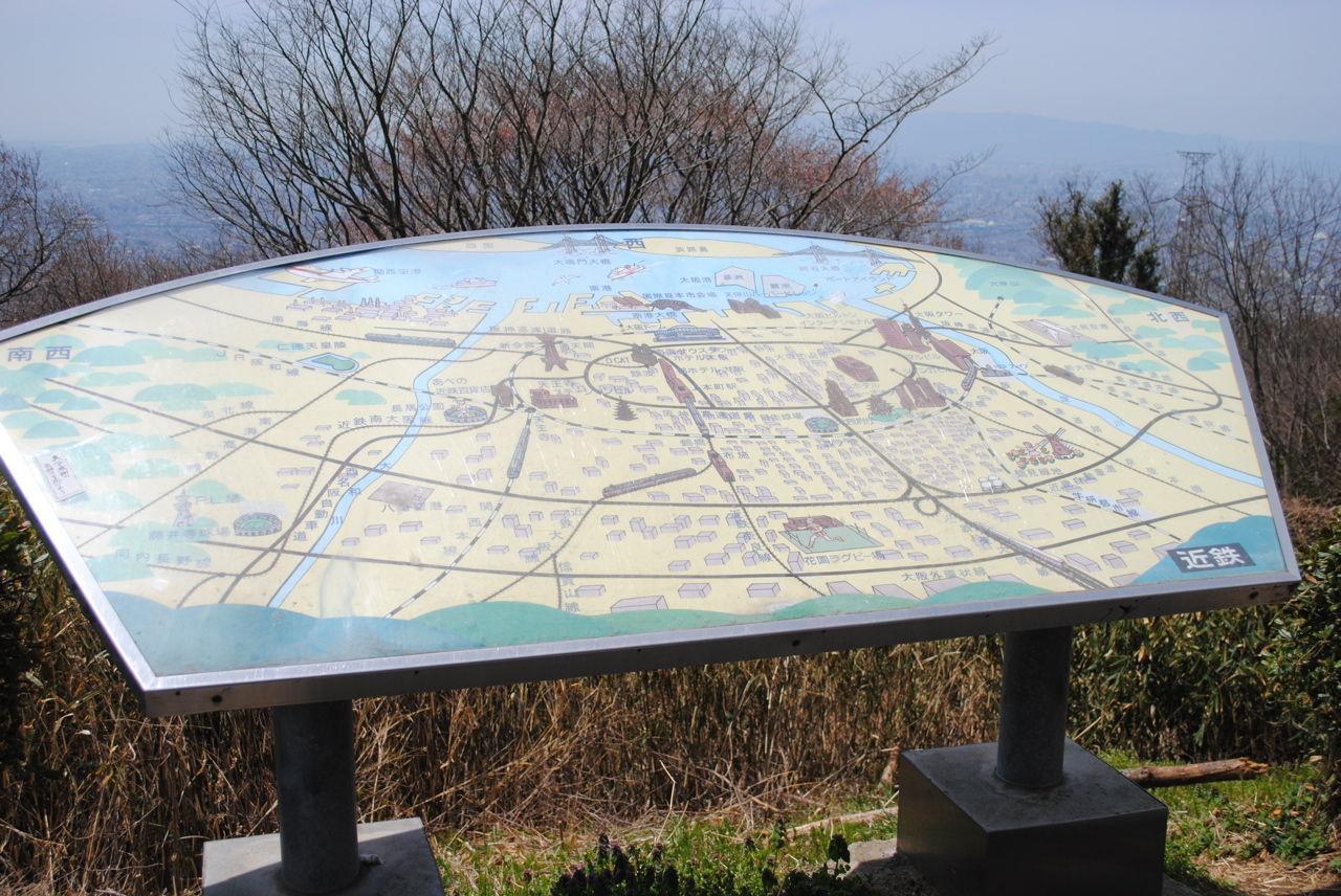 信貴生駒展望台の地図