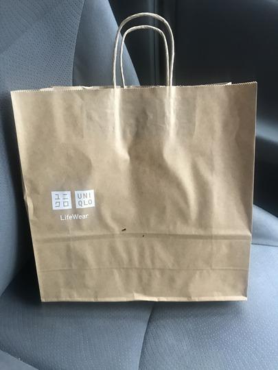 ユニクロの紙袋@1枚10円