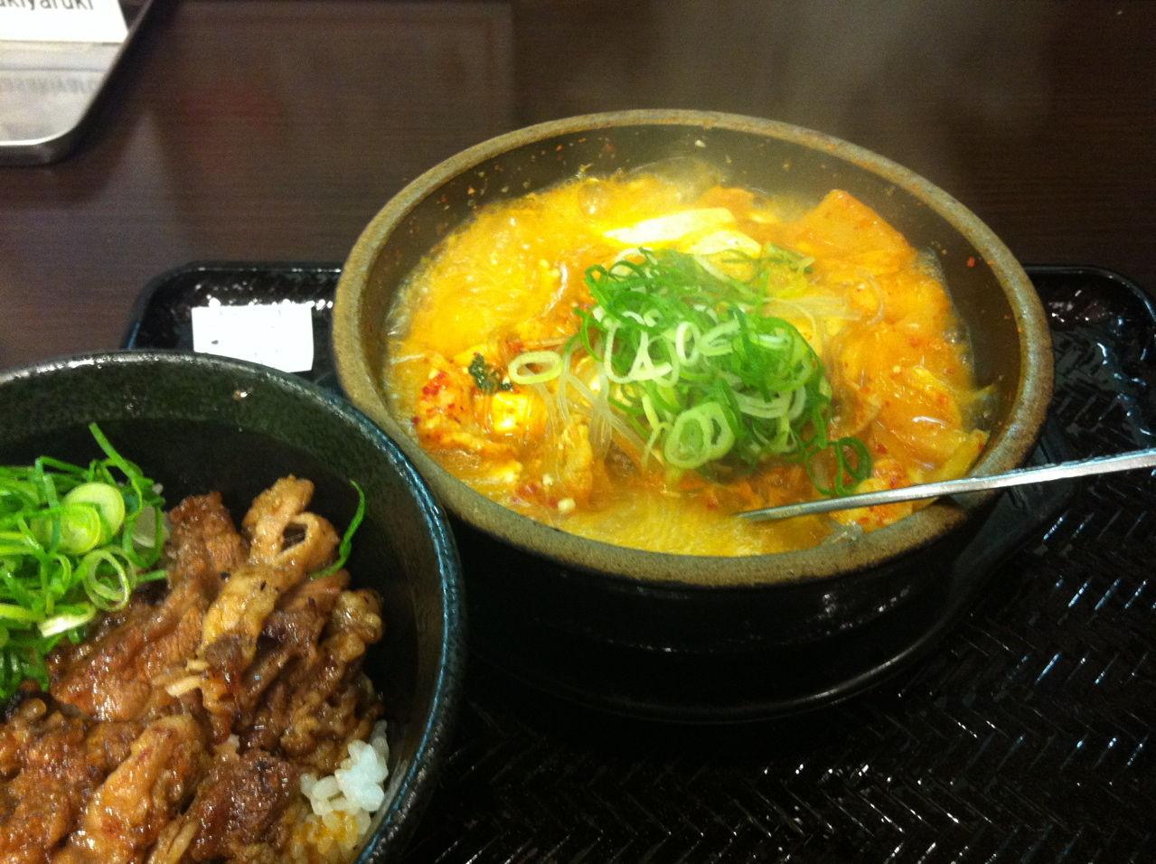 スン豆腐&ミニカルビ丼@韓丼